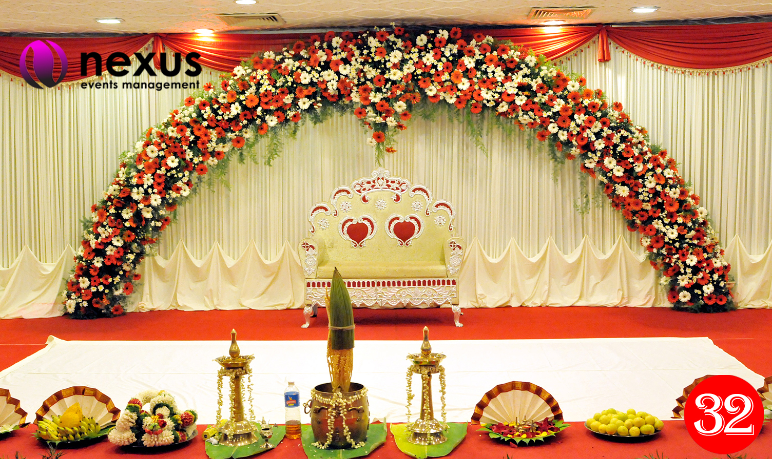 Wedding world indian wedding stage decoration for Marriage decoration photos